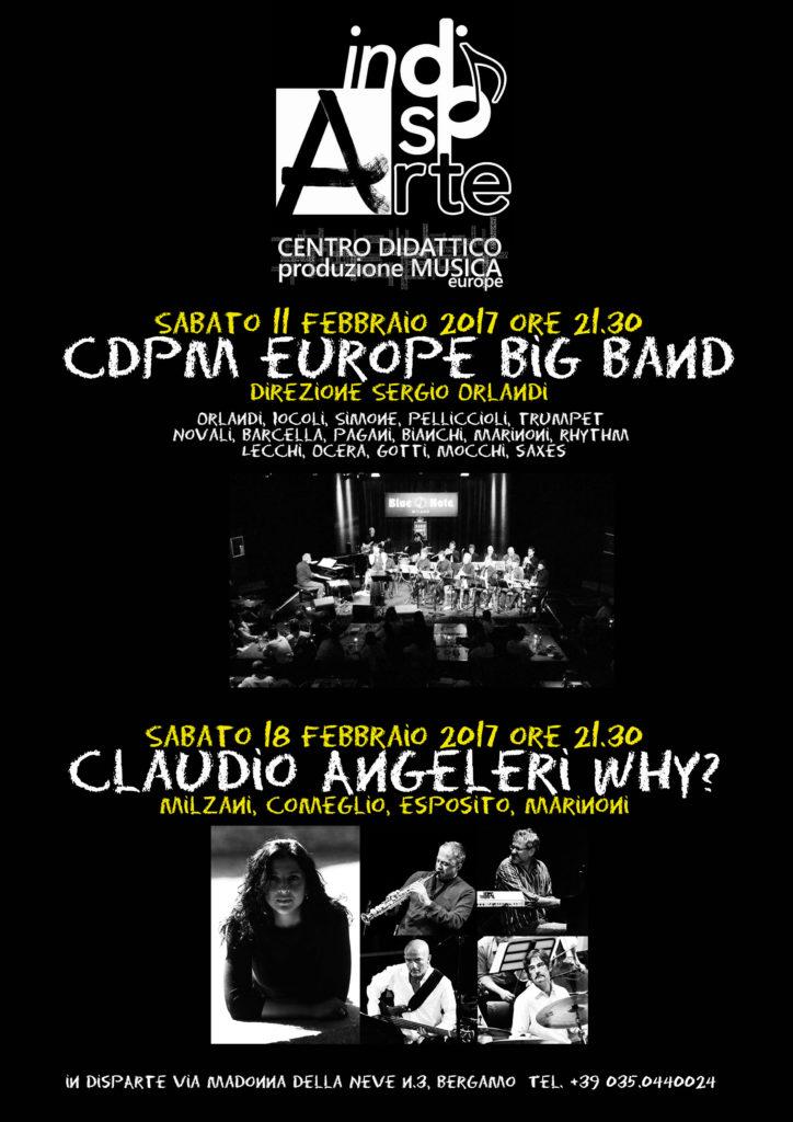 Anticipazioni 2017: Trovesi, CDpM europe big band, Angeleri